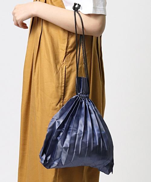 プリーツドローバッグ PLEATS BAG  巾着エコバッグ