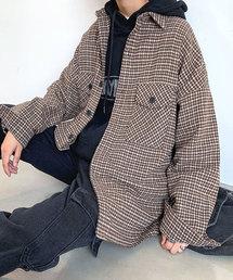 neos(ネオス)の【neos -addictive design-】タータン ガンクラブ チェック CPO ビッグシルエットシャツ(シャツ/ブラウス)