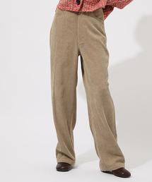 AZUL BY MOUSSY(アズールバイマウジー)のSOFT CORDUROY WIDE PANTS/ソフトコーデュロイワイドパンツ【MOOK#51掲載 90210】(パンツ)