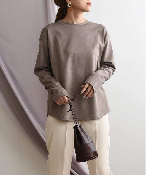 【MADE IN JAPAN】クルーネックシンプルTシャツ(ロンT)