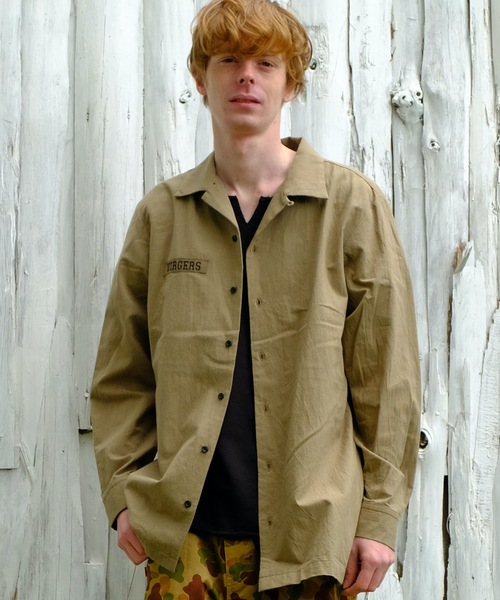 VIRGOwearworks(ヴァルゴウェアワークス)の「Relaxed uniform shirts(シャツ/ブラウス)」|ベージュ