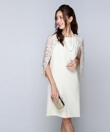 DRESS LAB(ドレスラボ)のレース ドレープ ワンピース ドレス 結婚式 フォーマル パーティードレス(ドレス)