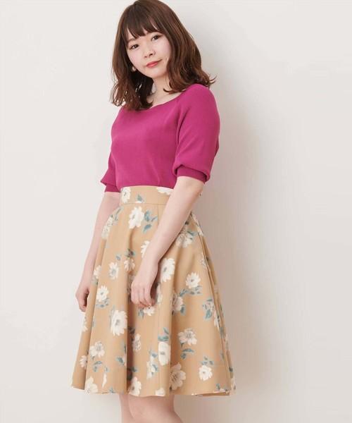 【美人百花/Ray掲載】スイサイフラワーフレアスカート