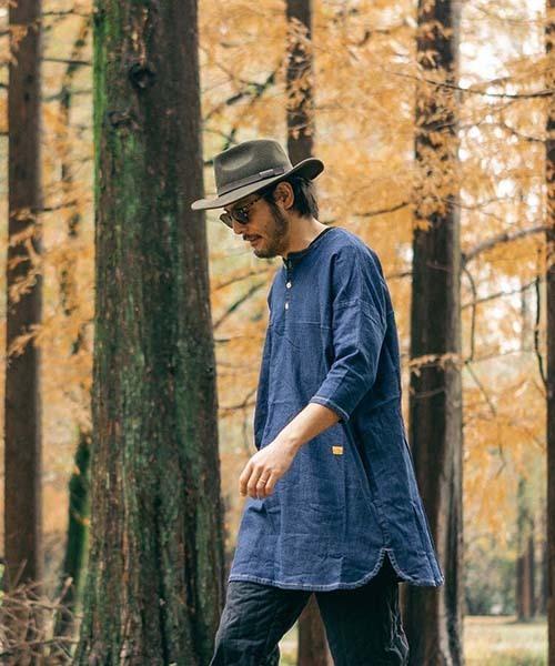 無料発送 【ネイタルデザイン】WIDE DENIM SPREAD DENIM SWEAT LONG HENRY// ワイドスプレッドデニムスウェットロング SWEAT ヘンリー(Tシャツ/カットソー)|NATAL DESIGN(ネイタルデザイン)のファッション通販, t-chouchou:4c08a8c1 --- 5613dcaibao.eu.org