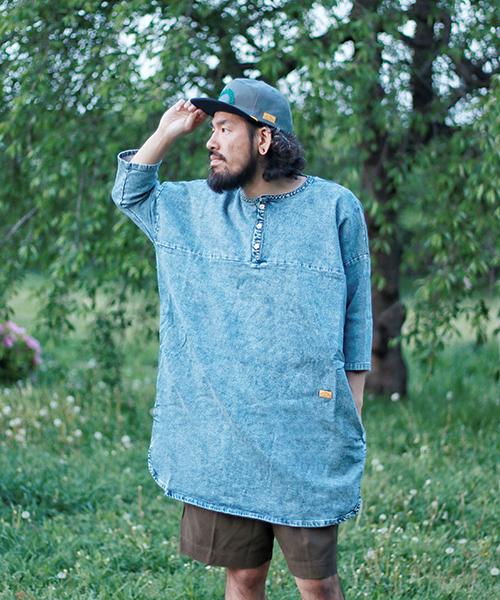 結婚祝い 【ネイタルデザイン】WIDE SPREAD DENIM SWEAT LONG DENIM HENRY NATAL/ SPREAD ワイドスプレッドデニムスウェットロング ヘンリー(Tシャツ/カットソー)|NATAL DESIGN(ネイタルデザイン)のファッション通販, オートパーツ ダイレクト:4f23f596 --- 5613dcaibao.eu.org