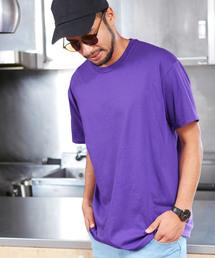 FRUIT OF THE LOOM/フルーツオブザルーム クルーネック 半袖 Tシャツパープル