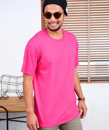 FRUIT OF THE LOOM/フルーツオブザルーム クルーネック 半袖 Tシャツピンク