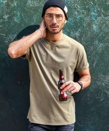FRUIT OF THE LOOM/フルーツオブザルーム クルーネック 半袖 Tシャツカーキ