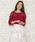 WILLSELECTION(ウィルセレクション)の「コードレース刺繍プルオーバー(ニット/セーター)」|パープル