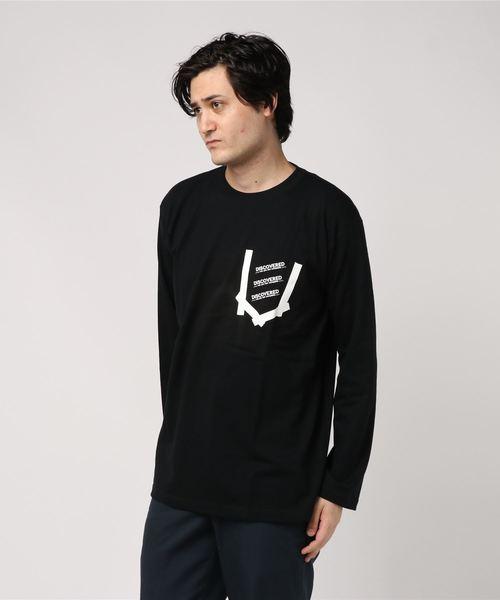 【DISCOVERED】Pocket&Logo Print Long T-Shirts