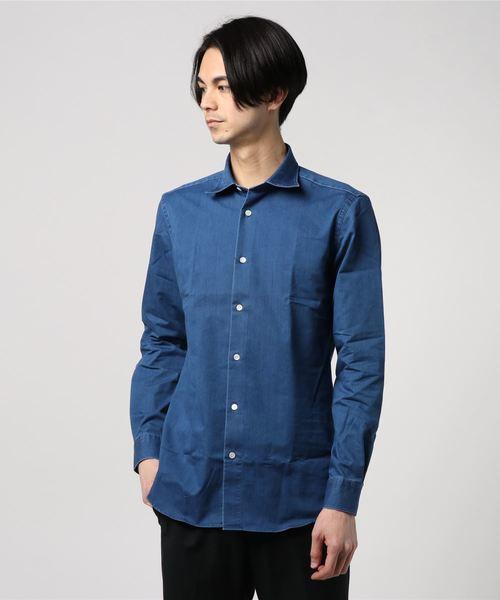 ESTNATION / クイックドライ ストレッチデニムドレスシャツ<The Functional Wear>
