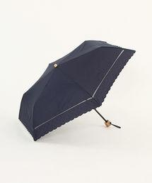 Afternoon Tea(アフタヌーンティー)のスカラップドット刺繍晴雨兼用折りたたみ傘 日傘(折りたたみ傘)