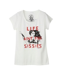 DESTROY ALL MONSTERS/LIFE AIN'T SISSIES Tシャツホワイト