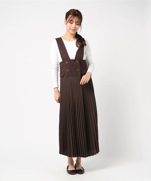 【Eimee Law】アコーディオンドッキングジャンパースカート