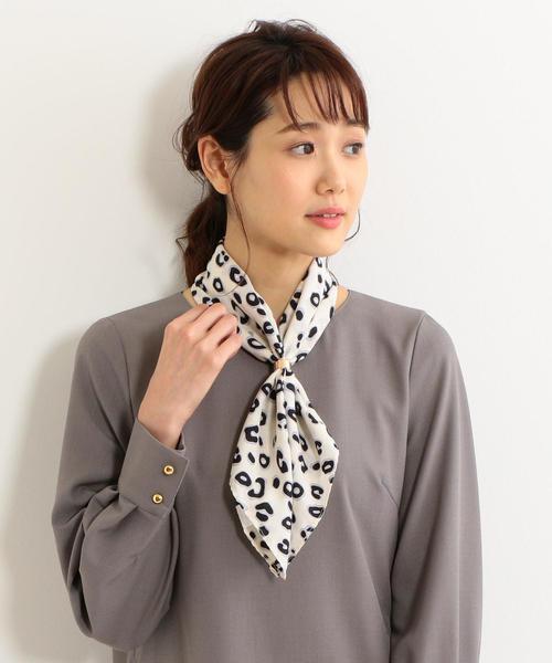 <closet story>レオパードプリント スカーフ