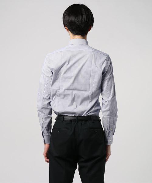 ESTNATION / クイックドライ ストレッチブロート ストライプ柄ドレスシャツ<The Functional Wear>
