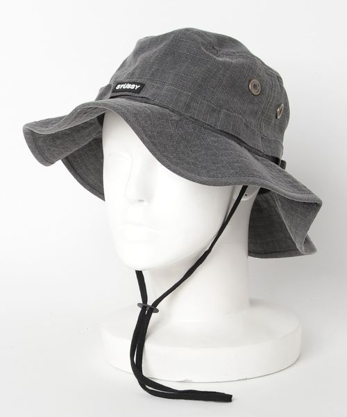 a19167d88f2dfc STUSSY(ステューシー)の「Washed Ripstop Boonie Hat(ハット)」|ブラック