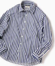 SHIPS(シップス)のSC: Shuttle notes ストライプ レギュラーカラー ネルシャツ(シャツ/ブラウス)