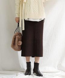 Gready Brilliant(グレディブリリアン)のリブニットタイトスカート(スカート)