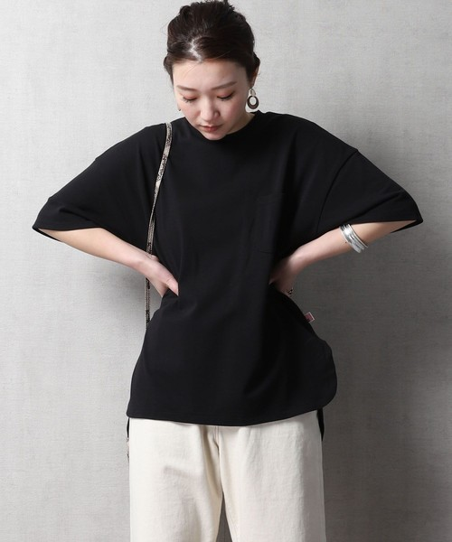 FREAK'S STORE(フリークスストア)の「【WEB限定】USAコットン ビッグTシャツ(Tシャツ/カットソー)」|ブラック