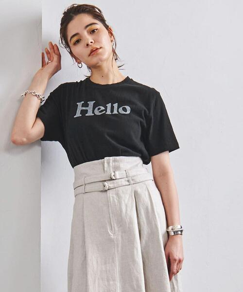 <MADISON BLUE(マディソンブルー)>HELLO ロゴ Tシャツ 21SS ■■■