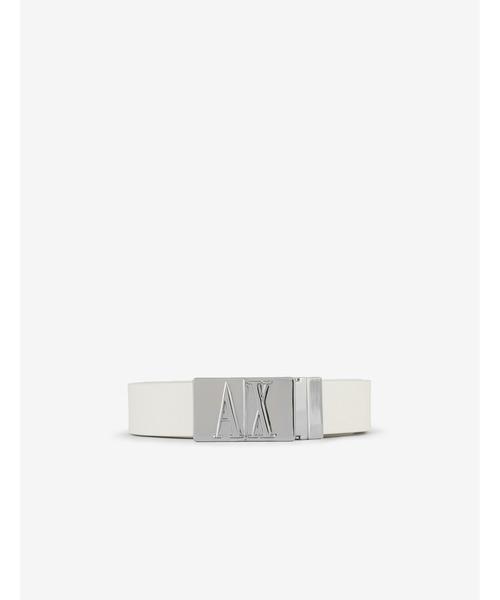 【A|Xアルマーニ エクスチェンジ】A|Xロゴプレートバックル  ベルト
