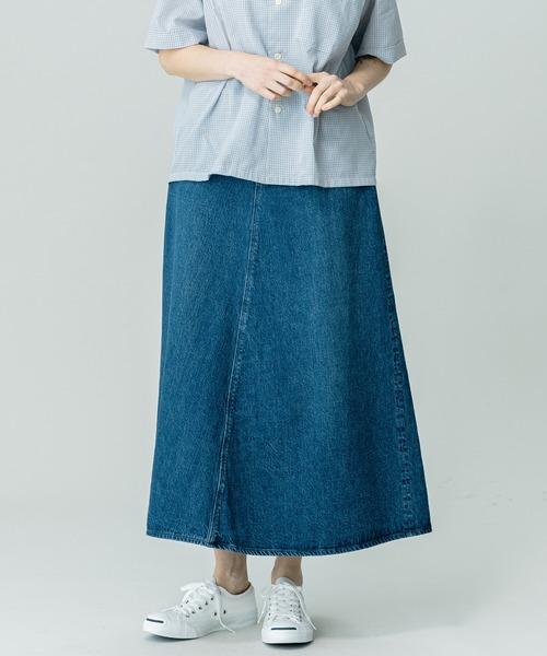 【orSlow】デニムロングスカート 2YEAR WOMEN