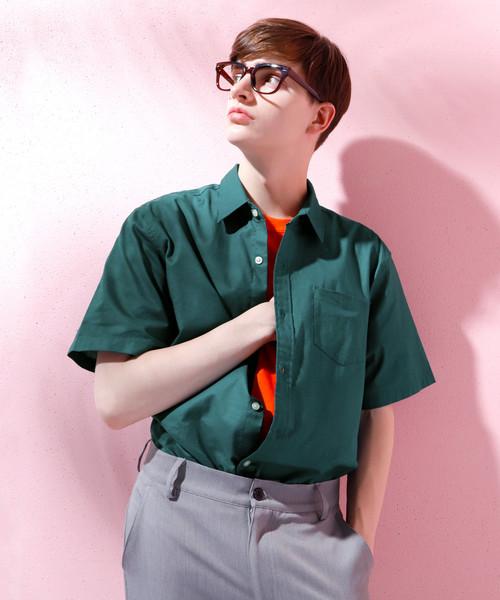 LINEN×COTTONオーバーサイズレギュラーカラーシャツ
