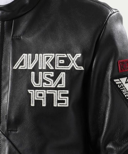 AVIREX/アヴィレックス/ 撥水レザー ライダース/ WATER REPELLENT LEATHER RIDERS 【AVIREX STREET GEAR/ ROAD】