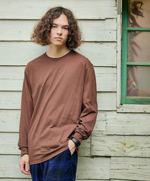 FRUIT OF THE LOOM/フルーツオブザルーム クルーネックロングTシャツ