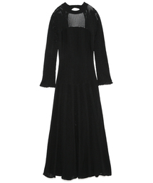FRAY I.D(フレイアイディー)の柄編みニットドレス(ワンピース)