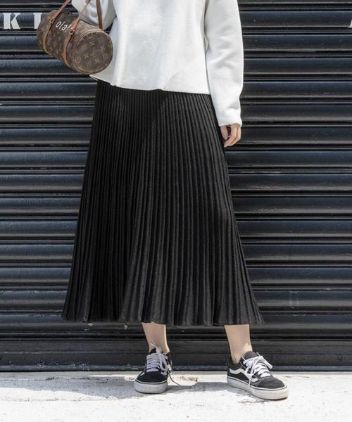 【STYLEBAR】ニットプリーツスカート