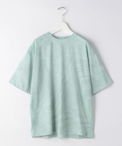 『 BRACTMENT ( ブラクトメント ) 』 マーブル プリント クルーネック 半袖 Tシャツ