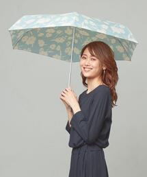<because>モノトーンカラー フラワー 折りたたみ傘