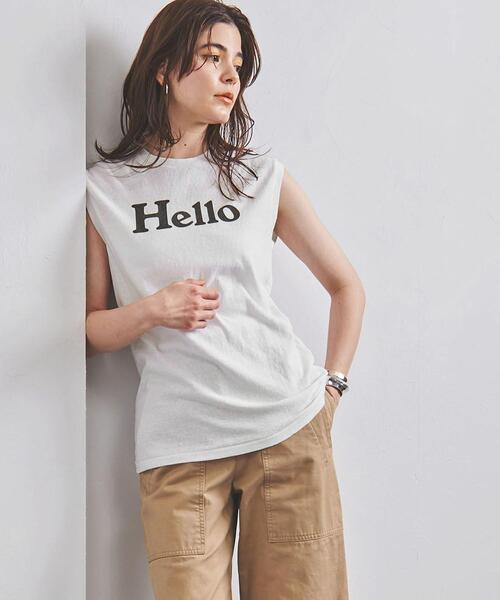 <MADISON BLUE(マディソンブルー)> HELLO ロゴ ノースリーブTシャツ 21SS ■■■