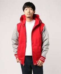 SHARK SWEAT VARSITY HOODIE JACKET M(ミリタリージャケット)
