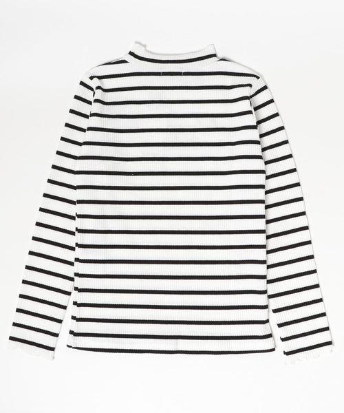 ロゴ刺繍テレコ長袖Tシャツ