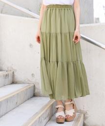 Heather(ヘザー)のヨウリュウティアードロングスカート 840376(スカート)