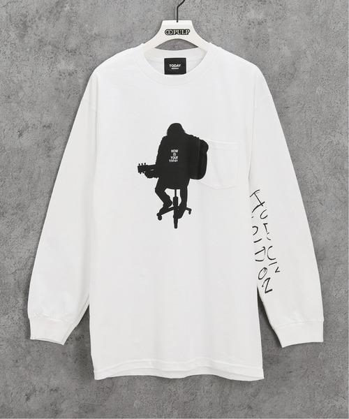 TODAY edition(トゥデイエディション)の「【TODAY edition / トゥデイエディション】 ACOUSTICS LS TEE(Tシャツ/カットソー)」|ホワイト