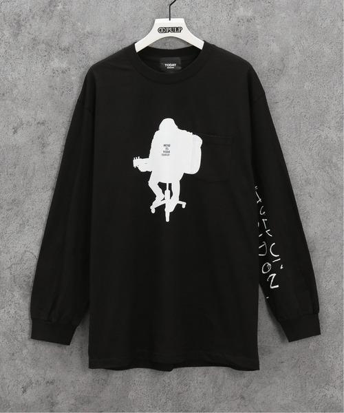 TODAY edition(トゥデイエディション)の「【TODAY edition / トゥデイエディション】 ACOUSTICS LS TEE(Tシャツ/カットソー)」|ブラック