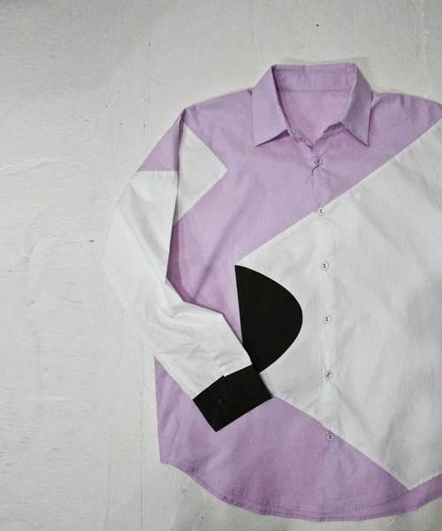 配色デザインシャツ