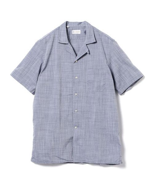 ◎GUY ROVER / ハケメショートスリーブ オープンカラーシャツ