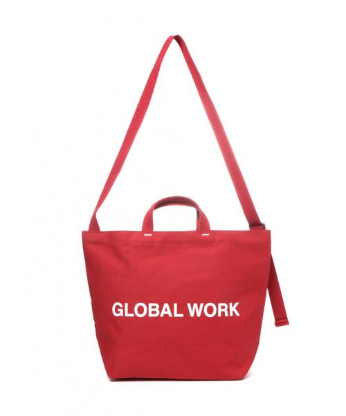 GLOBAL WORK(グローバルワーク)の「GLOBAL WORK LOGO トート2WAY2/817047(トートバッグ)」|詳細画像