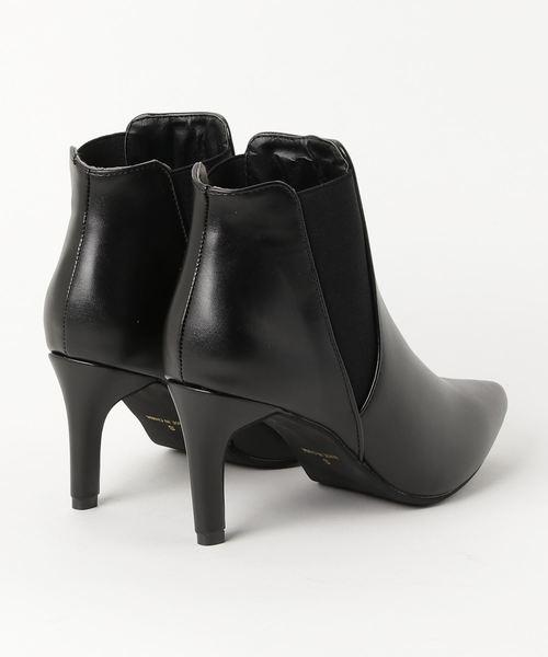 LibertyDoll(リバティードール)の「シルエットと履き心地を追求したピンヒール美脚サイドゴアブーツ(ブーツ)」|詳細画像