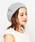CIAOPANIC(チャオパニック)の「K.ベレー帽/透かし編み(ハンチング/ベレー帽)」|グレー