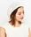 CIAOPANIC(チャオパニック)の「K.ベレー帽/透かし編み(ハンチング/ベレー帽)」|アイボリー