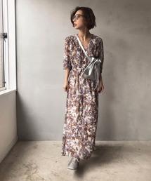 AMERI(アメリヴィンテージ)のGARDEN CHIFFON DRESS(ワンピース)