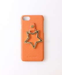 【 Hashibami / ハシバミ 】 # iPhone 8/7/6/6s/SE(第2世代) カバー リング付きケースオレンジ系その他
