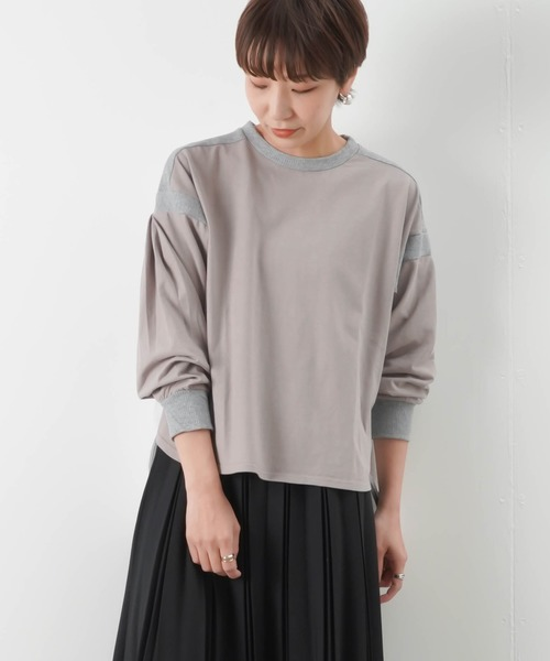 LUCA/LADY LUCK LUCA(ルカ/レディラックルカ)の「LC/LLL リブデザインドッキングカットソー(Tシャツ/カットソー)」|グレー