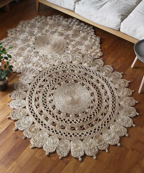 jute rug 9992 circle/ジュートラグ